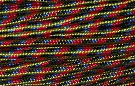 Cordón trenzado Mezcla 3mm Rojo-Verde-Azul