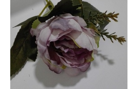 Flor tupida 5cms diámetro Malva
