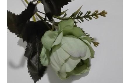 Flor tupida 5cms diámetro verde
