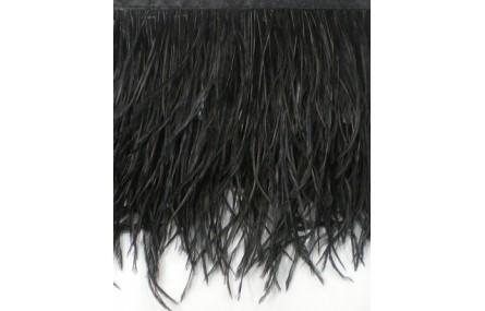 Fleco 1 mt de Pluma Avestruz negro