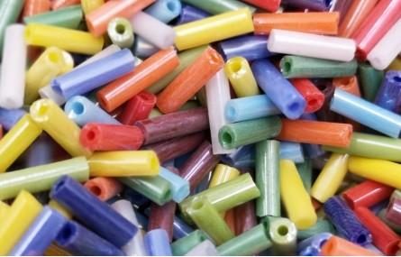 10 gramos Canutillo 6mm  Multicolor