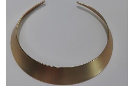 Collar Lámina 23mm ancho oro mate