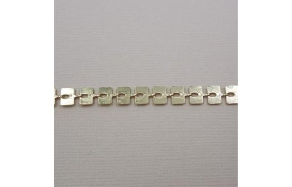 Cadena láminas rectangulares 7*4mm Dorado