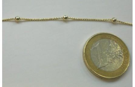 cadena con Bola de 2mm intercalada Oro